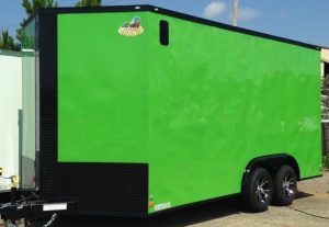 7 wide green cargo trailer height
